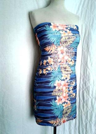 Платье -бюстье из рельефной ткани, м