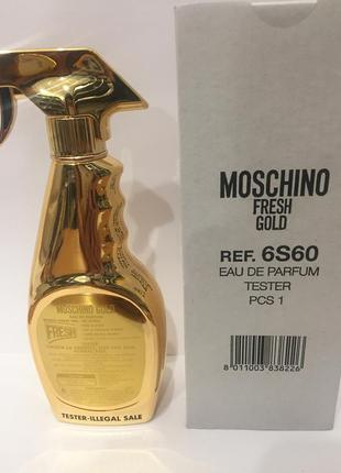 Moschino gold fresh couture тестер парфюмированная вода 100 мл оригинал2 фото