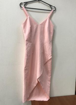 Розовое платье-сарафан love