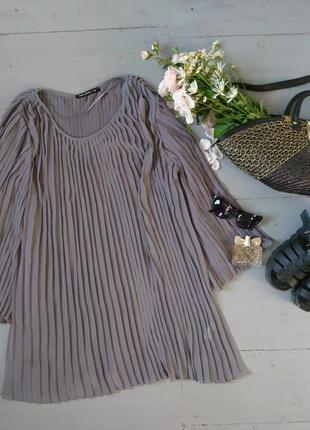 Милое шифоновое плиссированное платье №491