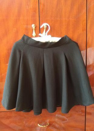 Чорна фактурная юбка сонцекльош yes or no! ❤️ s