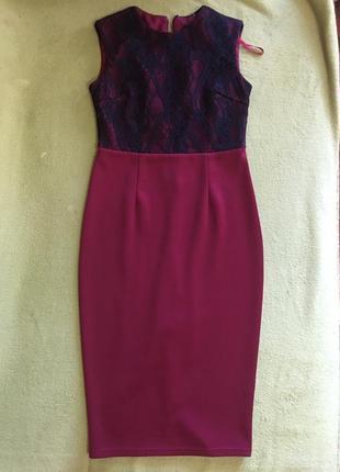 Мега красивое французское миди  платье ax paris