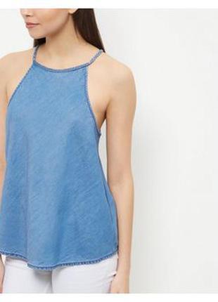 Джинсовая легкая блуза майка
