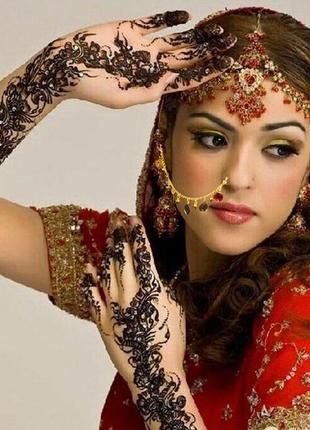 Нат nath индийское украшение для носа