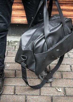 Мужская кожаная сумка mod.mg черная