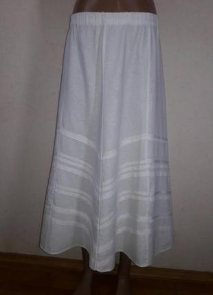 Юбка из натуральной ткани для пышных форм