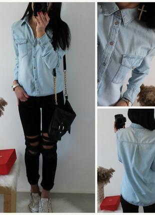 Рубашечка джинсовая
