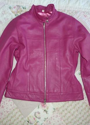 Новая розовая кожаная куртка. 100% натуральная кожа.