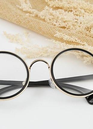 Круглые имиджевые очки.имиджевые очки.очки нулёвки.очки для стиля.очки