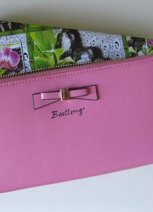 Розовый женский кошелек клатч baellerry