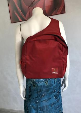 Красный городской рюкзак на одно плечо унисекс