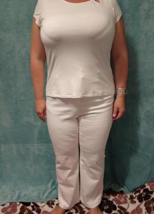 Прямі білі джинси / джинсы р.46