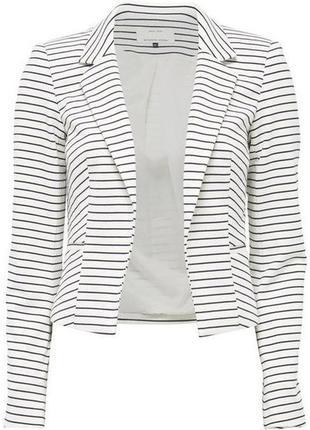 Стильный фирменный пиджак в полоску only размер м