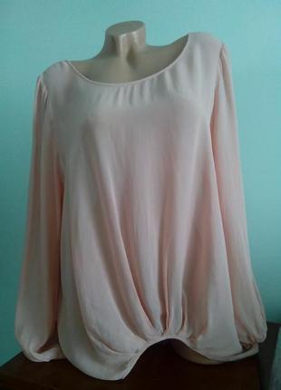 Блуза из вискозы свободного кроя