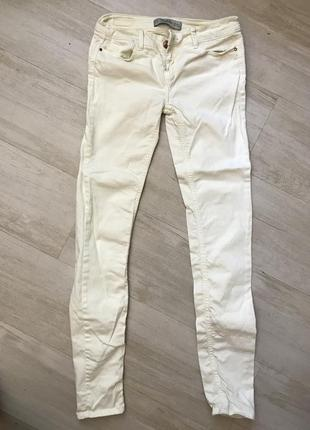 Лимонные джинсы zara