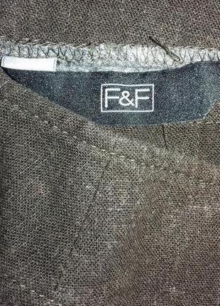 Прямая льняная юбка от f&f3