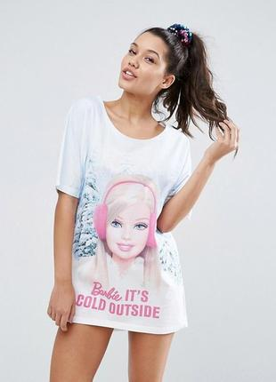 """Гарячий розпродаж до 15 вересня !! футболка для сна  """"barbie it's cold outside"""" asos2"""