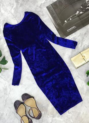 Платье из бархата глубокого синего цвета   dr1825079  miss selfridge