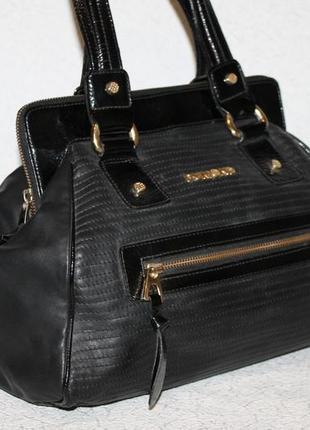 Шикарная кожаная сумка саквояж dumond