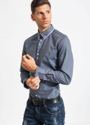 Рубашка однотонная нарядная молодёжная m, l, xl от glo-story
