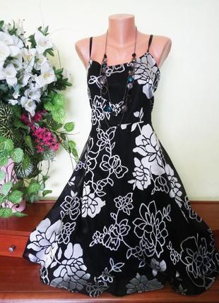 Платье с цветочным принтом шифон птлас 18 размер