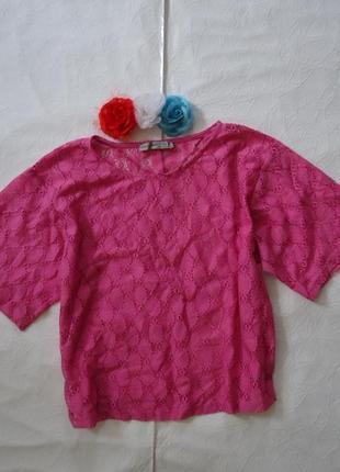 Яркая блузочка из гипюра с-м