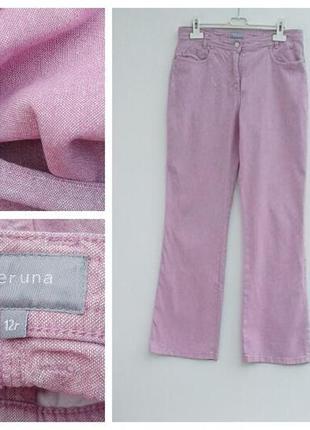 Льняные штаны повседневные брюки нежно розовые брюки