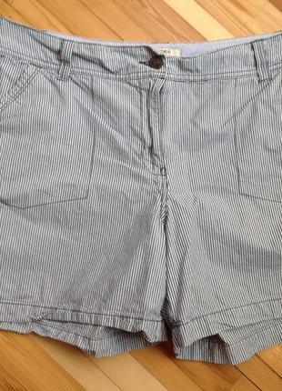 Женские шорты в полоску