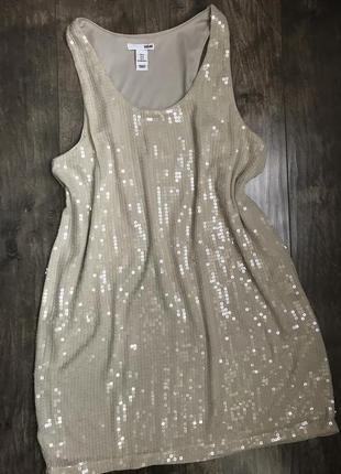 Красивое платье в пайетки h&m