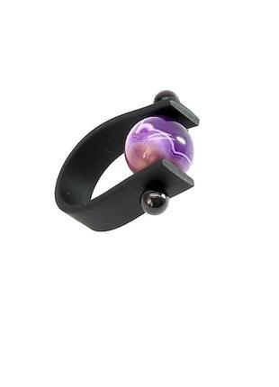 Кольцо с кружевным агатом. колечко из каучука