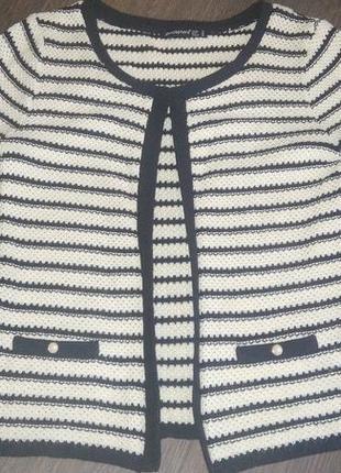 Кардиган пиджак в стиле шанель