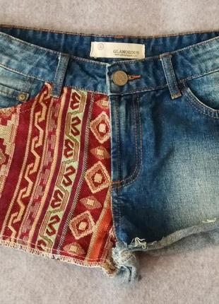 Джинсовые шорты oт glamorous