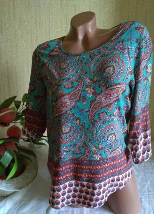 Красивая легкая блуза 100% вискоза