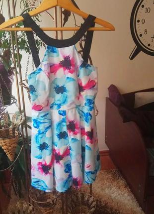 Яркий летний ромпер платье