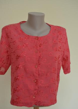 Нарядная блуза топ с вышивкой