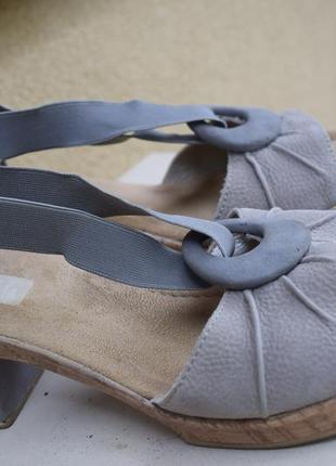 Кожаные туфли босоножки сандали риекер rieker германия р.6/39 25,5-25,9