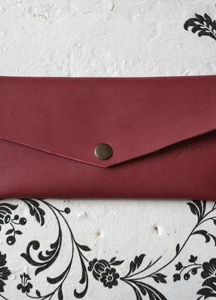 Кошелек-конверт из натуральной кожи.