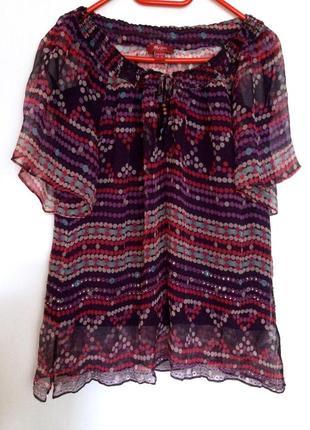 Блуза 100 % шёлк  2 в 1