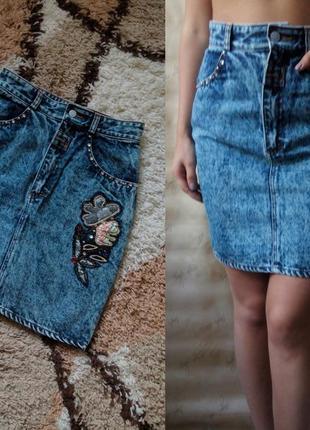 Джинсовая юбка/юбка/спідниця