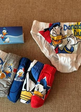 Прикольные трусики малышам с donald duck из англии на 18-24,2-3,3-4,4-5 лет