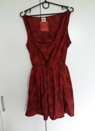 Платье сарафан кирпичного цвета с широким воротом object collectors item