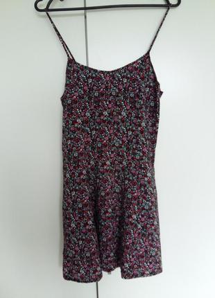 Платье сарафан летнее на девочку в цветочек