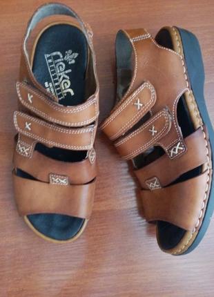 Кожаные босоножки rieker antistress 38 р 24-4,5 см. отличное состояние сандалии