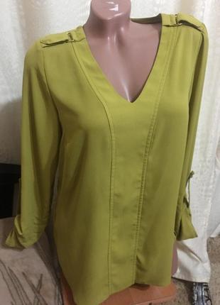 Красивая блуза оливкового  цвета george