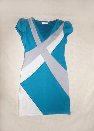 Стильное платье с геометрическим рисунком (турция)