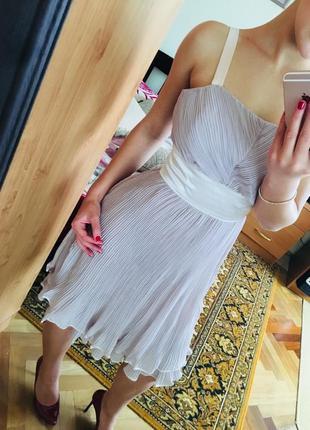 Платье вечернее, коктельное, летнее, платье миди, плиссе