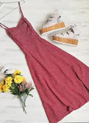Красный сарафан в горошек 11346 pimkie размер 36 (s) платье на бретельках1 фото