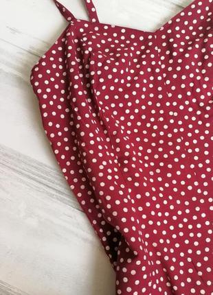 Красный сарафан в горошек 11346 pimkie размер 36 (s) платье на бретельках3 фото