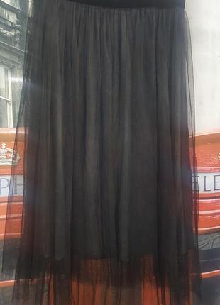 Крутая фатиновая миди юбка - 38 р - можно с 12 по 16 р-р