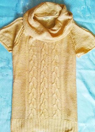 Теплая туника,удлиненный свитер